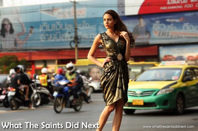 The non-stop energy of Bangkok makes for an interesting backdrop.
