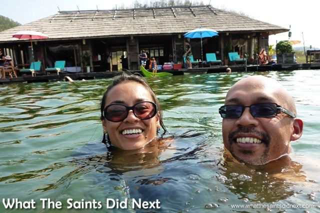 Swimming from the house verandah. Mountain Float - Thailand's Secret Holiday Hideaway.