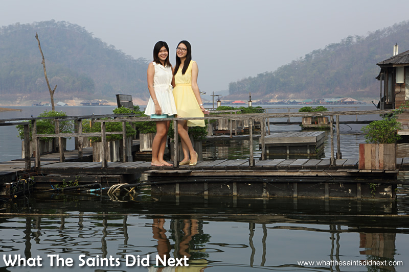 Two young ladies we met from Chiang Mai who were staying at one of the other houseboats.