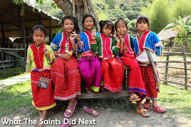 Baan Tong Luang village - six beautiful little faces.