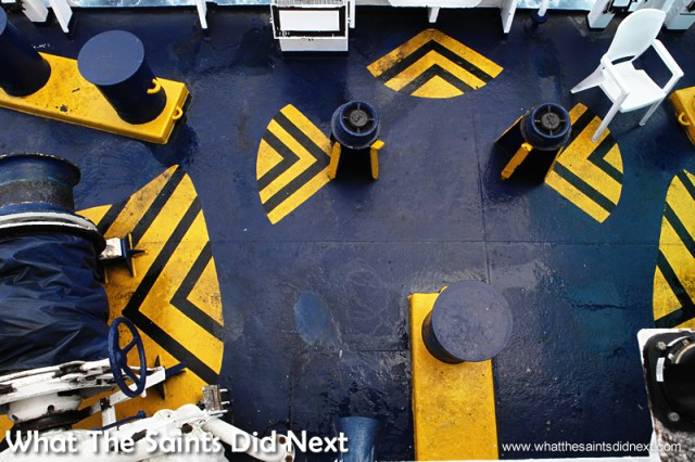 The colourful poop deck.  Photographs of the RMS St Helena.