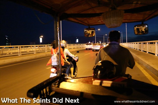 This was taken during part of a night tour of the city with our tuk tuk driver in Phnom Penh.