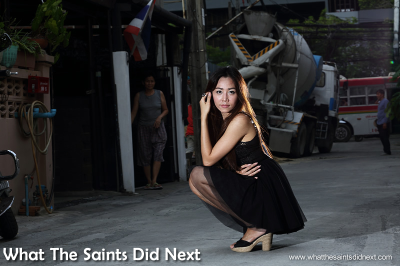 Many of the locals became 'extras' during our Bangkok street photo-shoot.