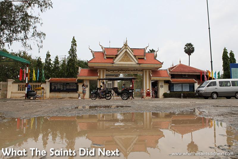 Choeung Ek Genocidal Centre entrance - one of Killing Fields, Phnom Penh, Cambodia