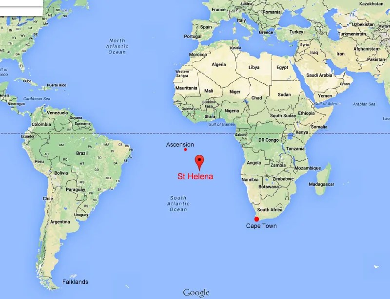 St Helena is a tiny island, just 48 square miles in size, in the South Atlantic Ocean.