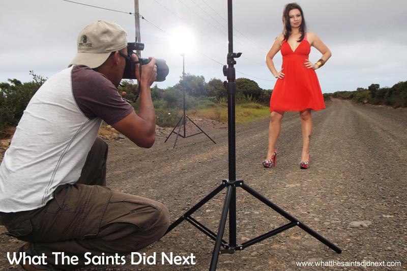 A dull and dreary day to work with for our Miss St Helena shoot.