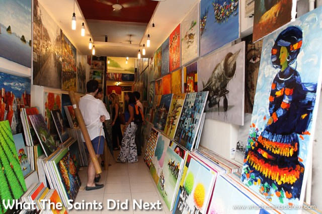 Hanoi has a vibrant art scene with shops throughout the city.