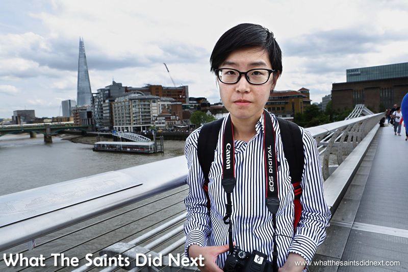 Bess from Hong Kong.  What is so good about London?