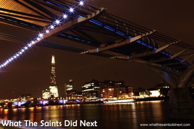 The Shard is now a very prominent feature on London's nightscape.  What is so good about London?
