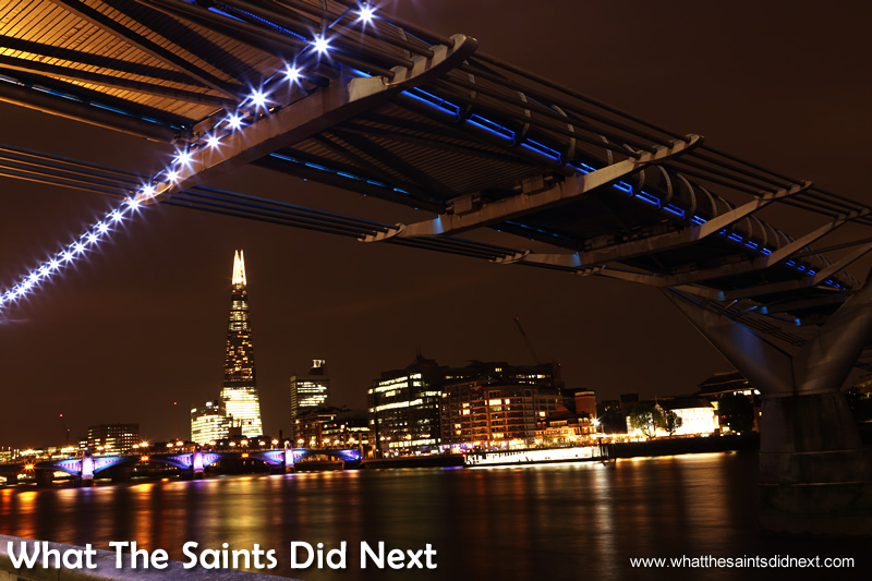 The Shard is now a very prominent feature on London's nightscape.