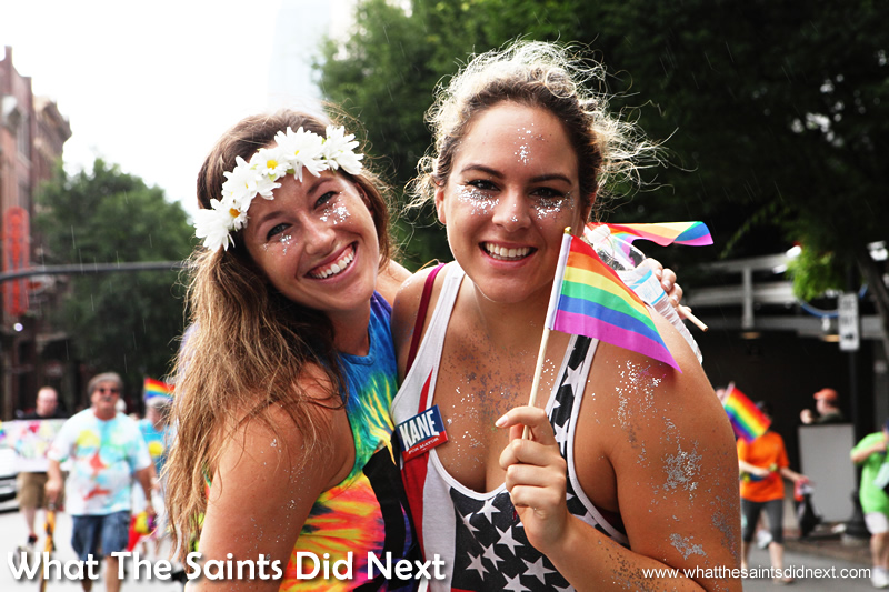 There were plenty of happy smiles in the Nashville Pride parade.