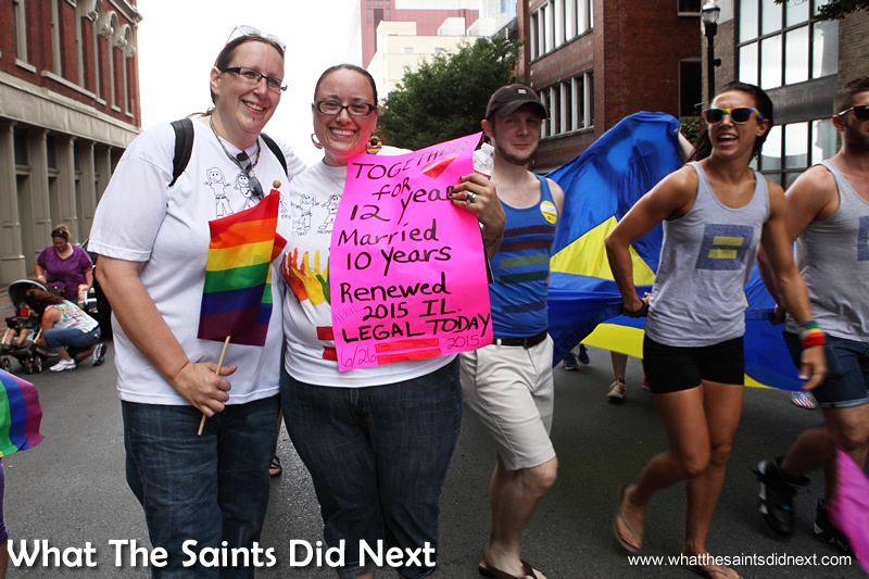 There were many moving messages on display in the parade.