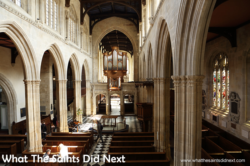 Inside the University Church of St Mary, in Oxford.