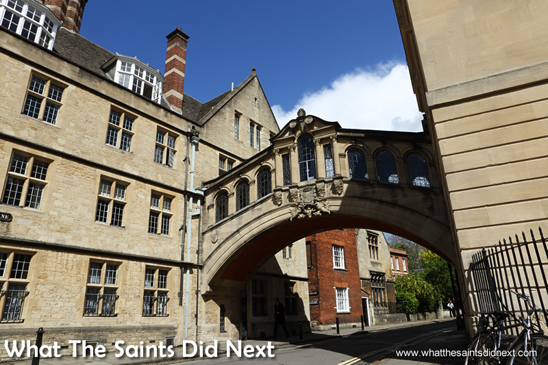 The Bridge of Sighs in Oxford. The City of Dreaming Spires.