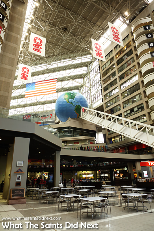 The view as we walk into the  CNN Center building.