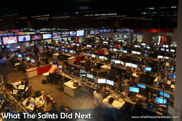 The CNN Newsroom, where it all happens. The CNN Center in Atlanta, Georgia.