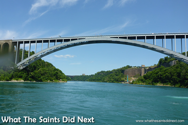 The Rainbow Bridge with connects Canada and the USA and looks down on the spectacular Niagara Falls.