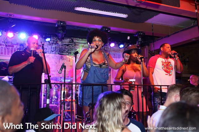 The band in Club Funky 544 were fantastic.