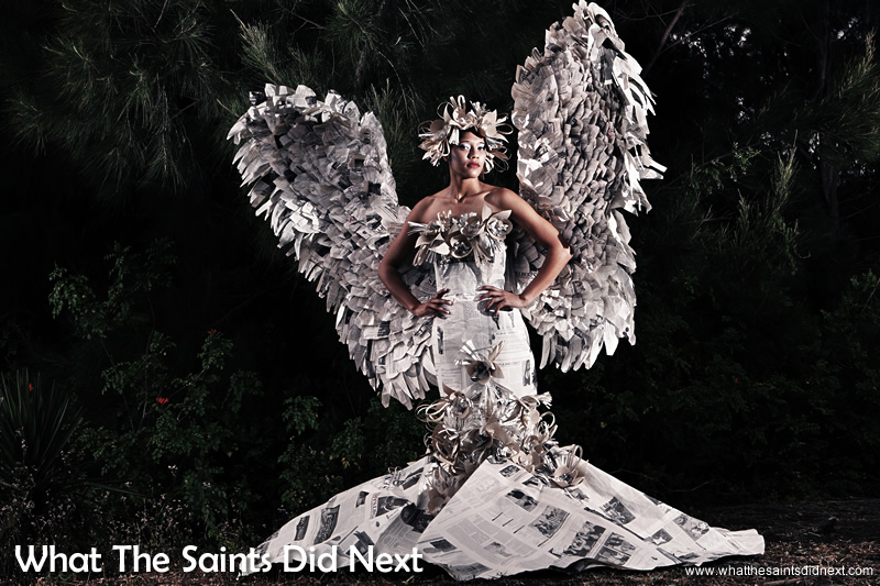 The stunning Christmas Paper Angel Dress in full glory.