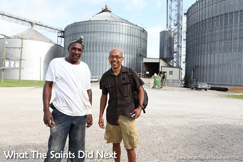 Meeting Curtis Brown at the grain escalator in Mississippi.
