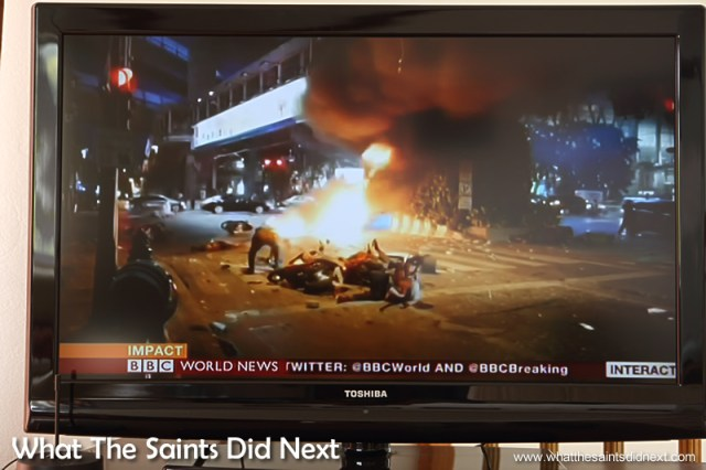 BBC World News TV coverage of the Erawan Shrine bombing in Bangkok.