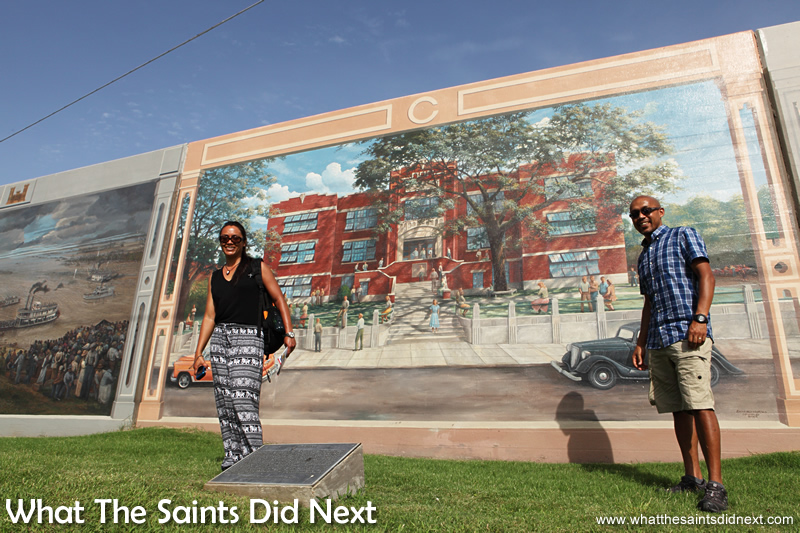 The Riverfront Murals programme was undertaken by a team of artists, led by Robert Dafford, from Louisiana. The project took seven years and was completed in 2009.