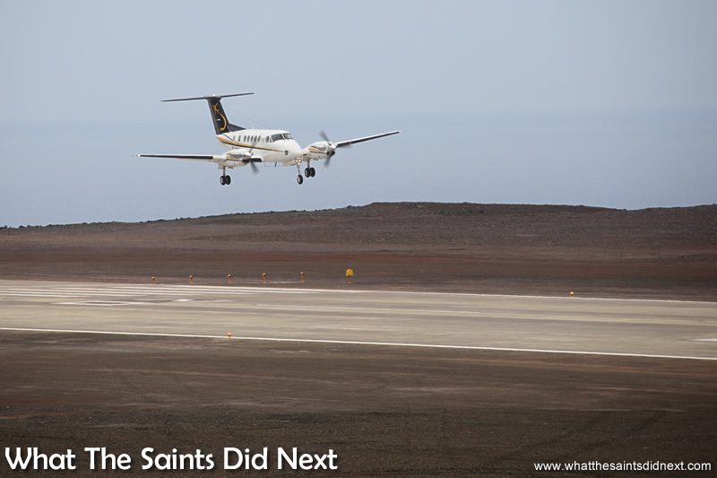 Very First Aeroplane To Land On St Helena Island