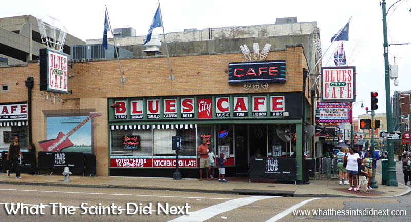 Beale Street restaurants offer plenty of places to eat and listen to the blues.