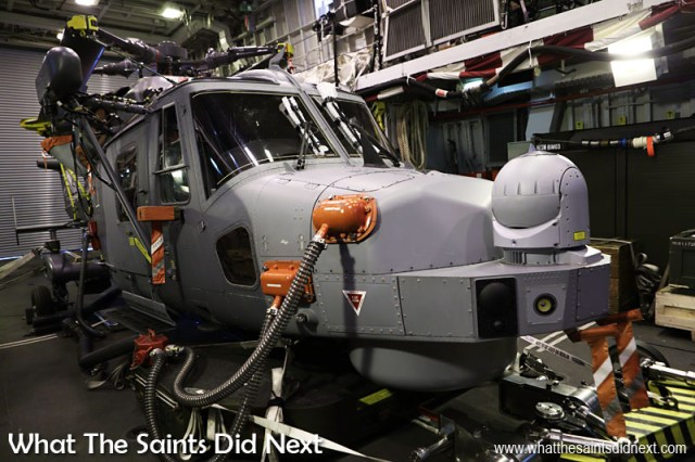 The Royal Navy's new Wildcat helicopter is capable of a wide range of roles including anti-submarine warfare, counter-piracy and search and rescue. It is armed with Sea Skua anti-ship missiles which enable targets to be engaged while the ship remains at a safe distance.