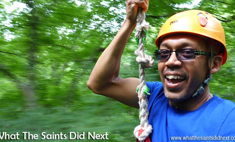 Frist Time Zip Lining With Music City Ziplines Of Nashville