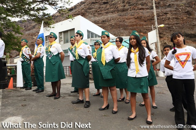 St Helena, Remembrance Day 2015: The Pathfinders in attendance.