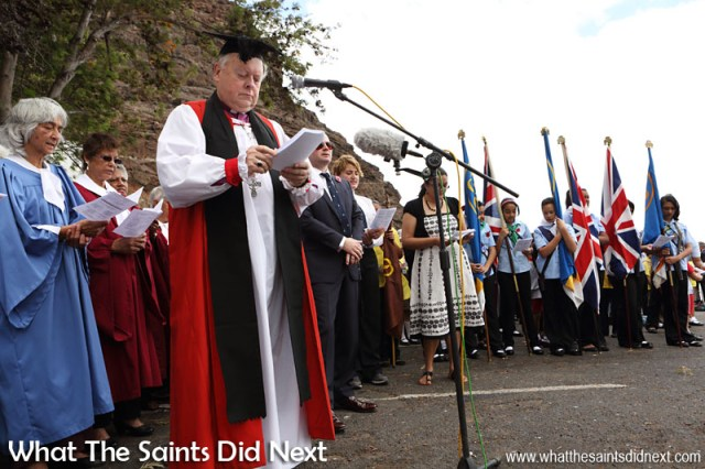 St Helena, Remembrance Day 2015. Hymns sung at this years service were, O God our help in ages past; The Lord's my shepherd, I'll not want; Praise my soul the King of heaven.