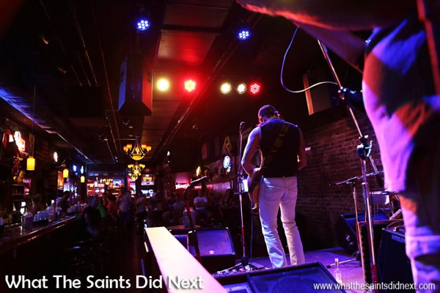 Inside the Second Fiddle with Lefty Ferguson on stage. A Night Out In The Nashville Honky Tonks.