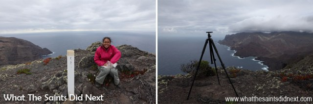 These pictures were taken on the same walk to Sandy Bay Barn on St Helena, a week earlier, when the weather turned completely overcast by the time we reached the post box. Without the sunlight and shadows the landscape photo was never going to work, which meant hiking back on another day for the shot we saw earlier. Sometimes you have to put in a lot of work for good landscape lighting!