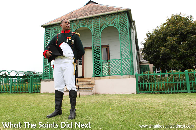 Recreating the reflective mood of Napoleon's move on 10 December 1815 from the Briars to his permanent residence, Longwood House, St Helena. The French Emperor is portrayed by local Saint actor, Merrill Joshua. This event is taking place on 10 December 2015, exactly 200 years after the original. St Helena exile Napoleon Bonaparte.