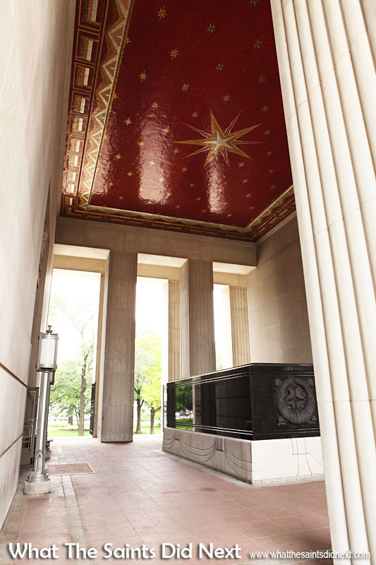 The Soldiers Memorial Military Museum, St Louis, Missouri. The 'Gold Star Mother' mosaic ceiling in the atrium  is dedicated to the mothers of St Louisans who died in war.