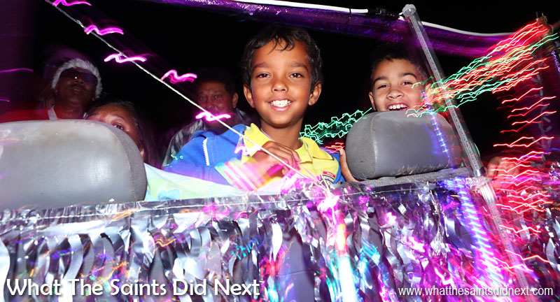 St Helena Christmas street parade the Festival of Lights 2015