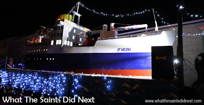 St Helena Festival of Lights 2015 - RMS St Helena float by the RMS St Helena crew.