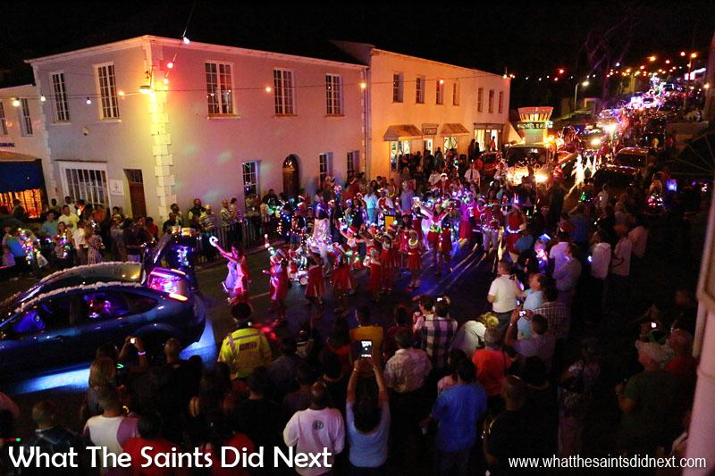 St Helena Festival of Lights 2015 - Market Street is a river of lights.