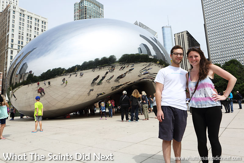 What People Say About Chicago - At Chicago's 'Bean' (Cloud Gate sculpture) we met Danny & Marty, visiting from New York city.