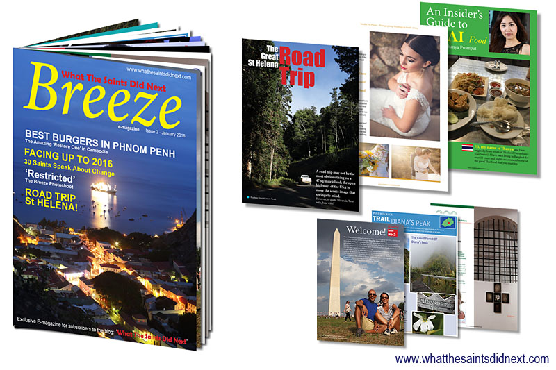 Breeze e-magazine, issue 2, by What The Saints Did Next - Photography magazine produced on St Helena Island available for free to all blog subscribers.