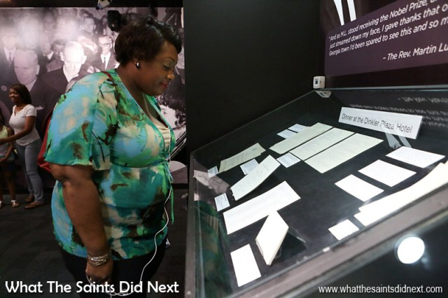 Inside The Visitor Center in the National Historic Site in Atlanta. It is full of galleries, exhibits and films about Dr Martin Luther King Jr and the Civil Rights Movement.