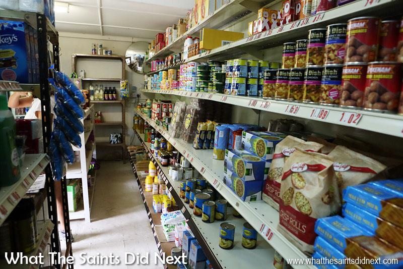 Inside Thorpe's shop, Sandy Bay.