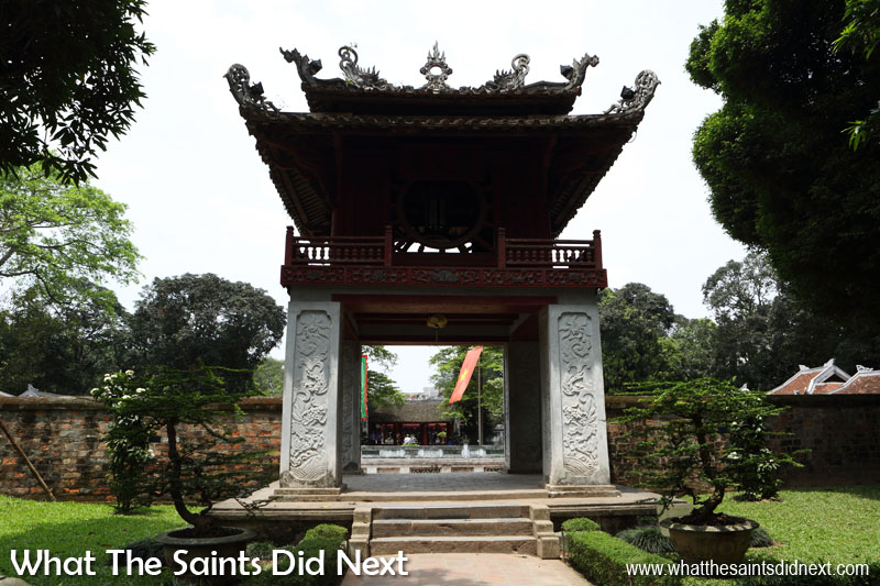 The ornate 'Khue Van Pavillion' leads onto the 'Well of Heavenly Clarity.'