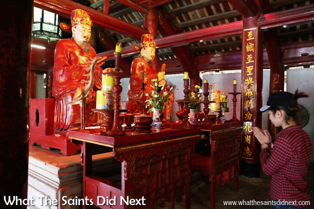 The Temple of Literature in Hanoi is dedicated to Confucius and his scholars and is a place of worship and a memorial to education and literature.