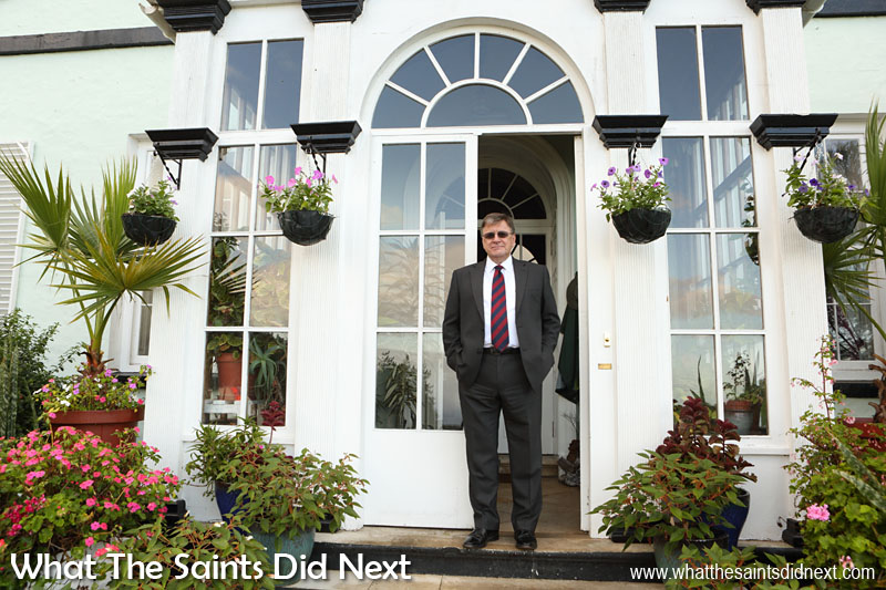 Governor Mark Capes at Plantation House.  Governor Of St Helena Mark Capes.