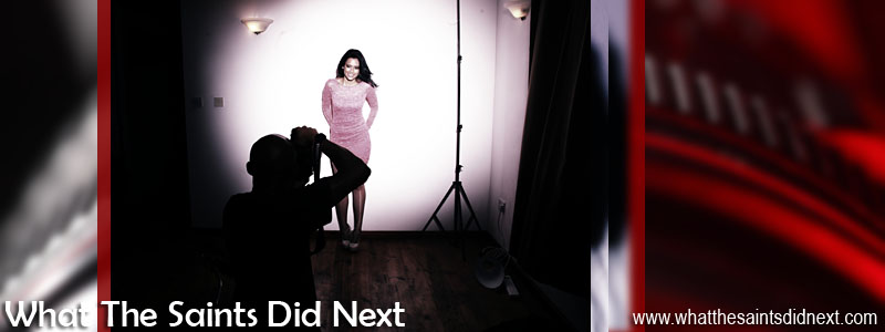 Photoshoot by What The Saints Did Next - Behind the scenes Model, Jodi Wade; Photography, Darrin Henry; Make-up, Sharon Henry