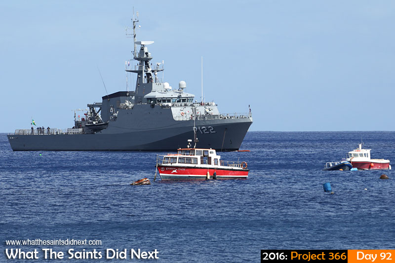 'Lee'<br /> 1 April, 2016, 09:49 - 1/640, f/8, ISO-200<br /> Brazilian navy ship, BNS Araguari, visiting the Island.