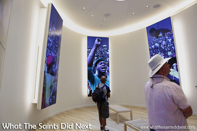 The Center for Civil and Human Rights in Atlanta, also draws attention to modern day freedom fighters and the continued global fight for human rights.