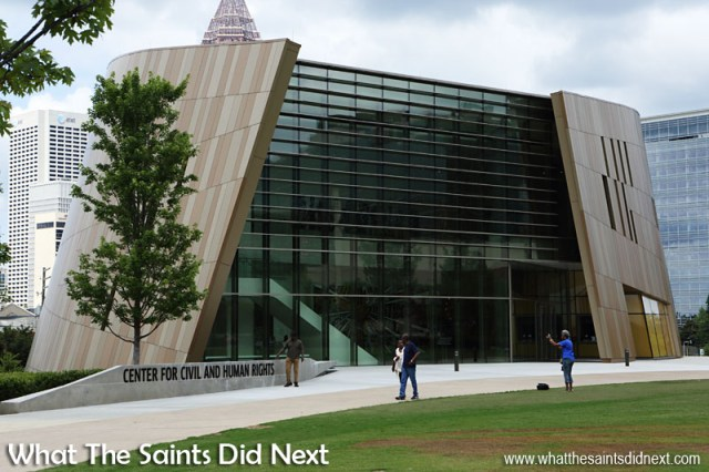 The Center for Civil and Human Rights building in Atlanta, Georgia, was created by design architect Philip Freelon. Freelon is best known for leading the design team of the Smithsonian National Museum of African American History and Culture in Washington, D.C.